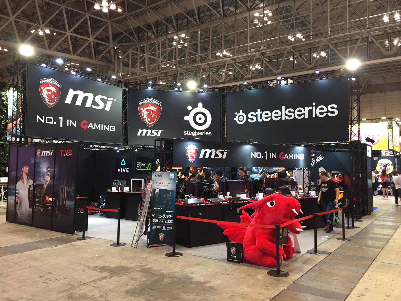 TOKYO GAME SHOW 2016 msi / SteelSeries Booth
